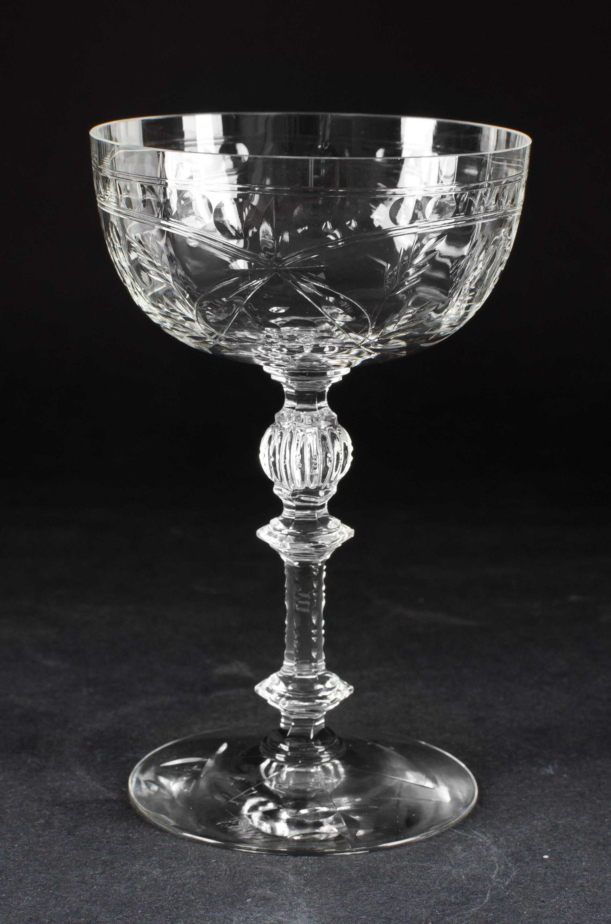 dating antique wine glasses